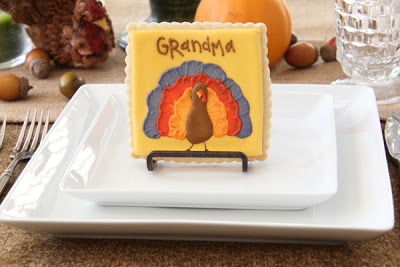 Turkey Cookie Place Card Holders