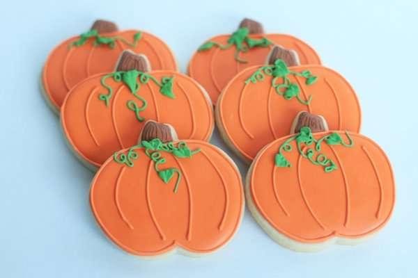 Halloween Cookies- Pumpkins, Skeletons, and Owls