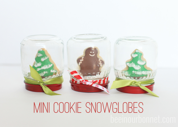 Mini Cookie Snow Globes