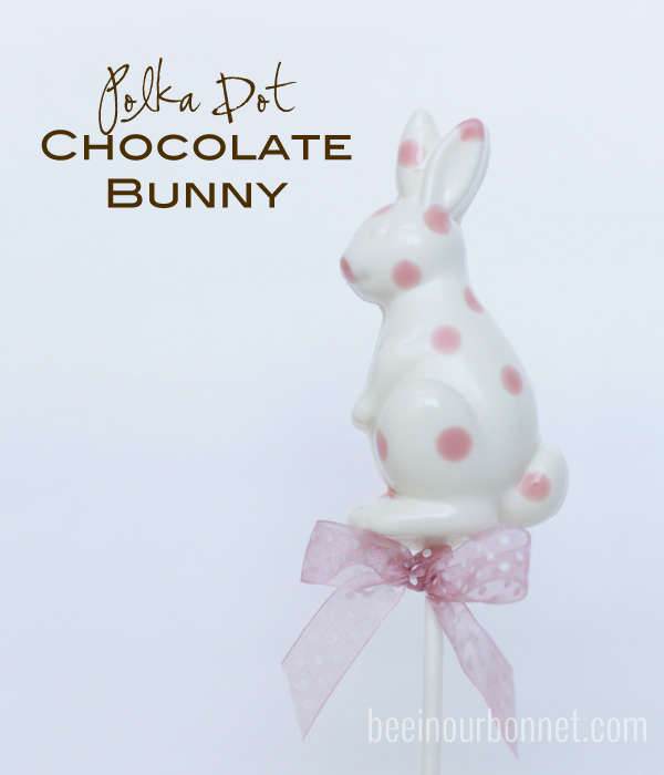 Polka Dot Chocolate Bunnies