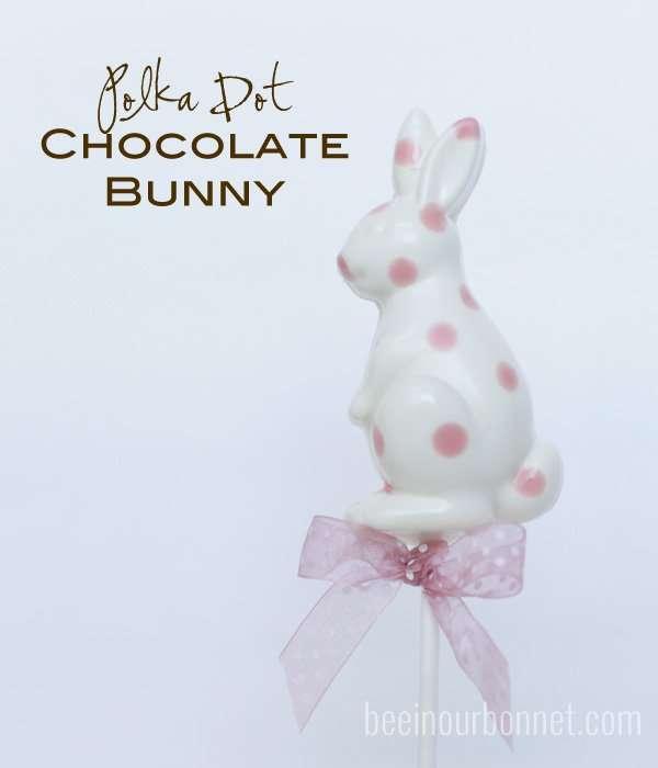 Polka Dot Chocolate Bunnies