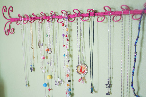 Repurposed Necklace Holder