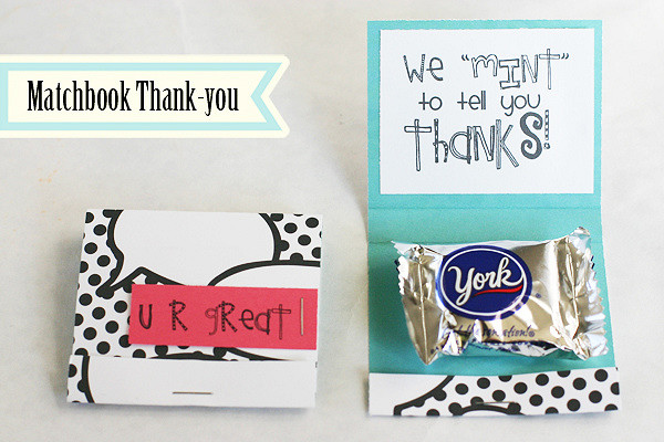 Matchbook Thank-you