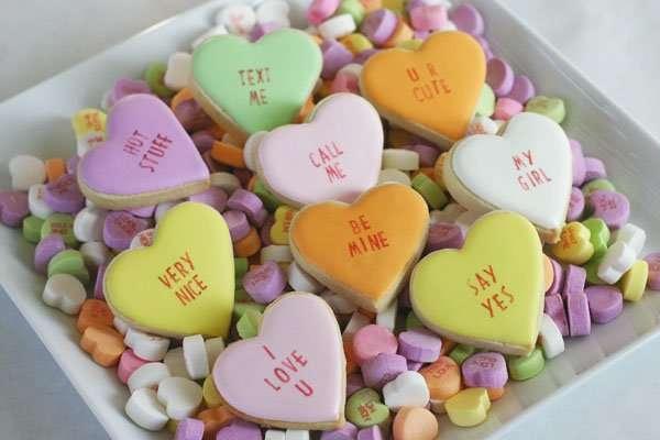 Conversation Heart Cookies