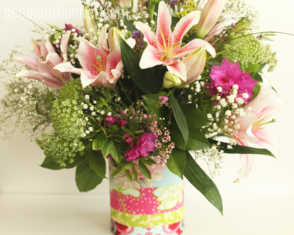 Easy to make Lily Flower Arrangement