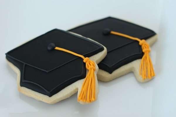 Graduation Hat Cookies