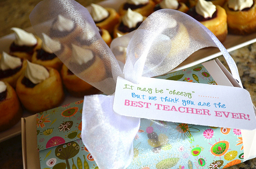 Mini Cheesecakes Teacher Gift