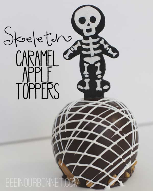 Skeleton Caramel Apple Toppers