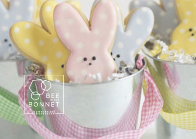 Bee In Our Bonnet Easter Cookies