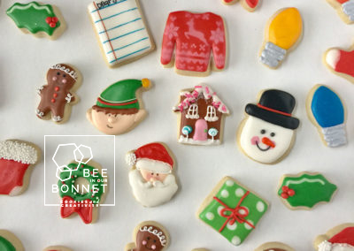 Bee In Our Bonnet Christmas Cookies