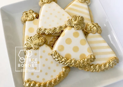 Bee In Our Bonnet Birthday Cookies