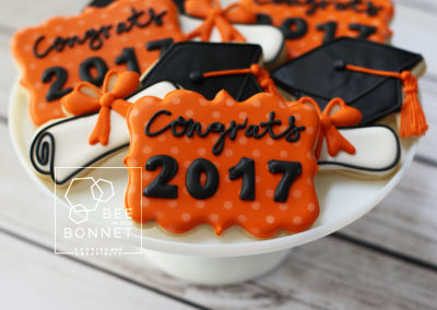 Bee In Our Bonnet Graduation Cookies
