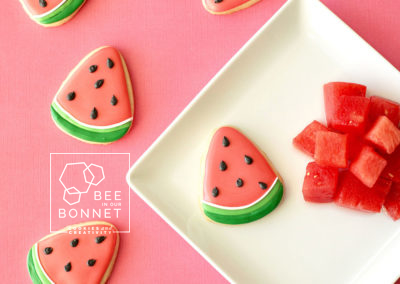 Bee In Our Bonnet Watermelon Cookies