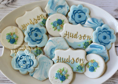 Bee In Our Bonnet Baby Shower Cookies