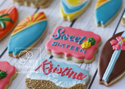 Bee In Our Bonnet Sweet Sixteen Cookies