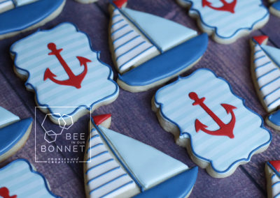 Bee In Our Bonnet Nautical Boat Cookies