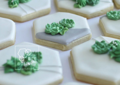 Bee In Our Bonnet Succulent Cookies