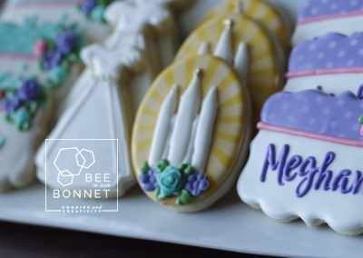Bee In Our Bonnet Dress Cookies