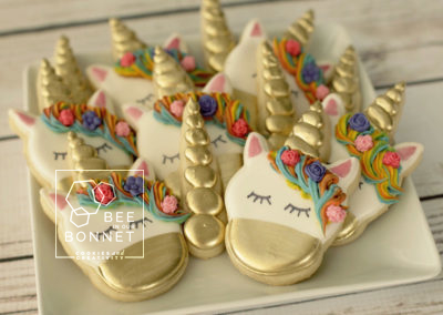 Bee In Our Bonnet Unicorn Cookies