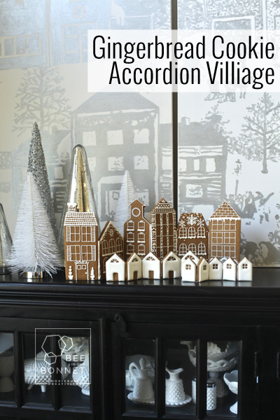 Gingerbread Cookie Accordion Village